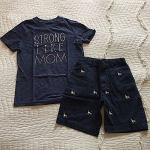 Cat & Jack Shirts & Tops - Cat & Jack Size S (6-7) Strong Like Mom Tee Shirt